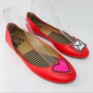 ModCloth DV8 Icon Do Anything Red Heart Flats